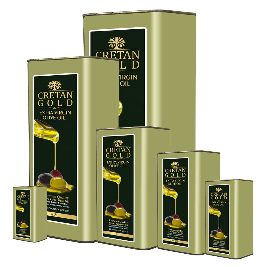 Cretan Gold Extra Virgin Olive Oil Tin