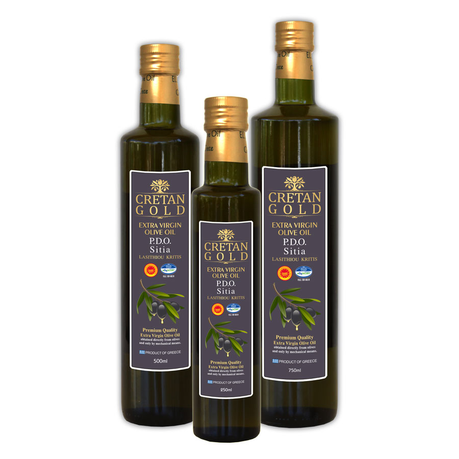 PDO Sitias - Cretan Gold Extra Virgin Olive Oil Dorica Bottle