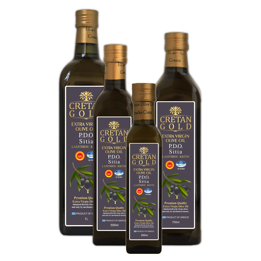 PDO Sitias - Cretan Gold Extra Virgin Olive Oil Marasca Bottle