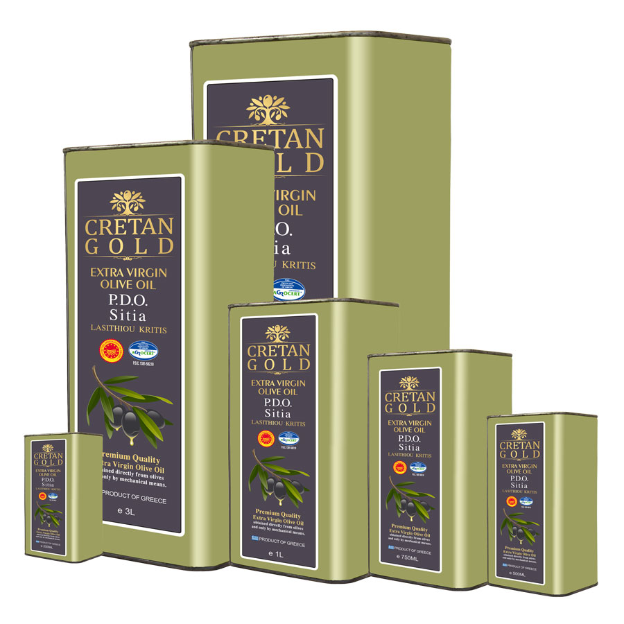 PDO Sitias - Cretan Gold Extra Virgin Olive Oil Tin